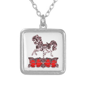 Carousel Silver Plated Necklace