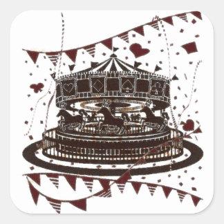 Carousel Square Sticker