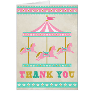 Carousel Thank You Card