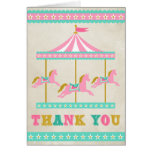 Carousel Thank You Stationery Note Card