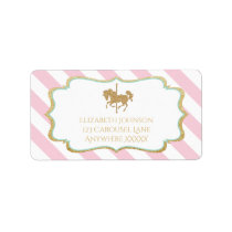 Carousel Themed Address Labels