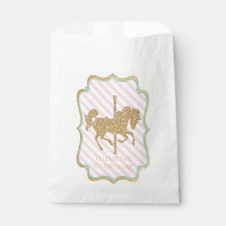 Carousel Themed Favor Bags