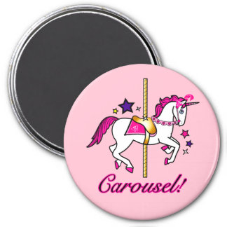 Carousel Unicorn Magnets