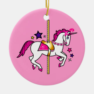 Carousel Unicorn Christmas Ornaments