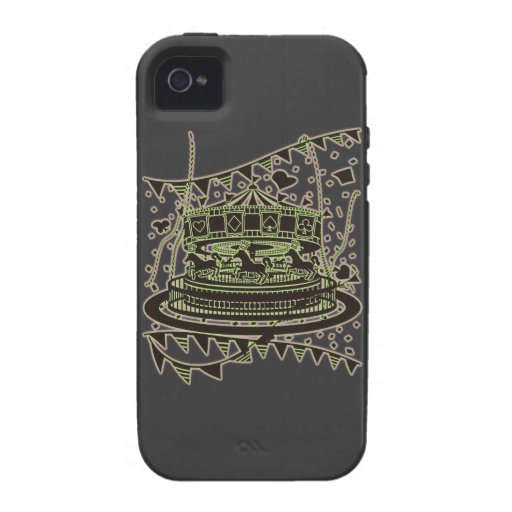Carousel Vibe iPhone 4 Cover
