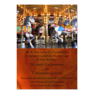 "Carousel Wedding Invitation 5"" X 7"" Invitation Card"