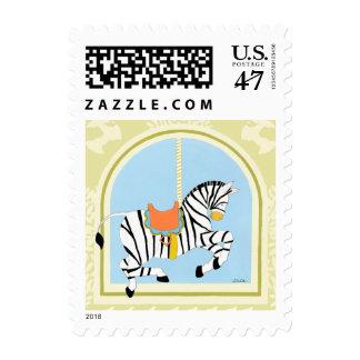 Carousel Zebra by June Erica Vess Postage