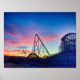 Carowinds theme park poster