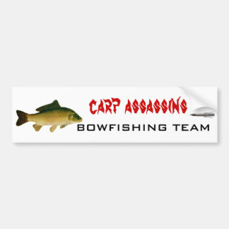 carp02, 3022, carp assassins, BOWFISHING TEAM Bumper Sticker