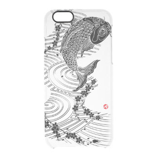 Carp and Cherry blossoms 鯉桜 Clear iPhone 6/6S Case