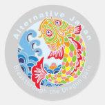 もう一つの日本アート samurai japan japanese carp pine tree apricot bamboo wave small mallet box crane tortoise symbol logo mark Japan Japanese style Illustration Pop