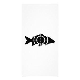 Carp fish crosshairs photo card