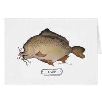 Carp fish, tony fernandes greeting card