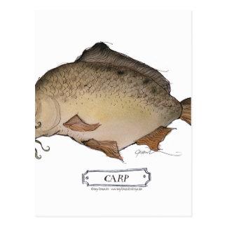 Carp fish, tony fernandes postcard