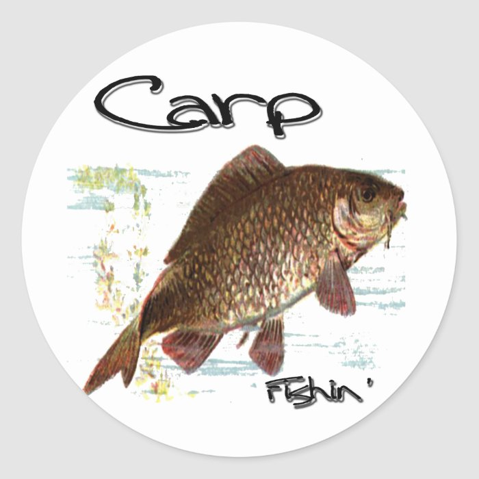 Carp Fishin' Classic Round Sticker