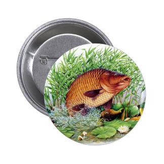 Carp Fishing Pinback Button