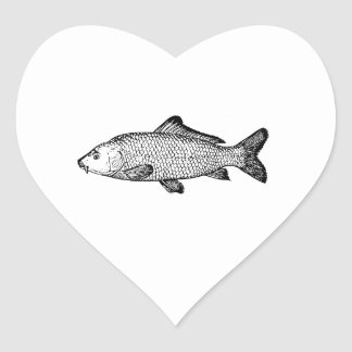 Carp Heart Sticker