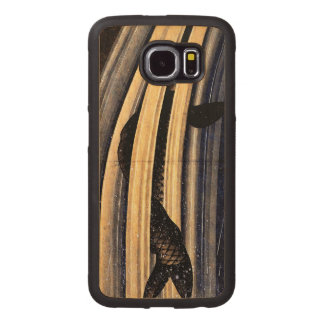 Carp Leaping Up A Cascade by Hokusai Wood Phone Case