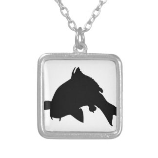 carp.png silver plated necklace