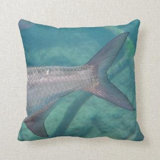 carp tail in water fish animal image throw pillow