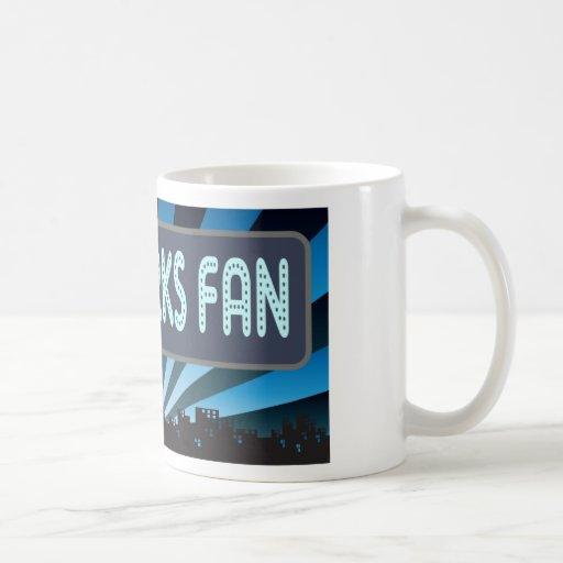 Carpa de la fan de los fuegos artificiales tazas de café