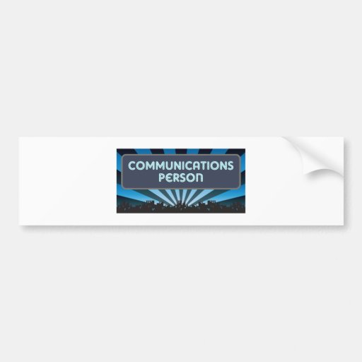 Carpa de la persona de las comunicaciones etiqueta de parachoque