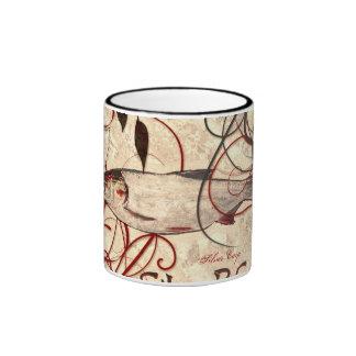 Carpa de plata taza de dos colores