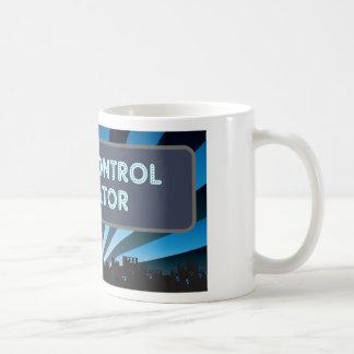 Carpa de radio del operador de control taza de café