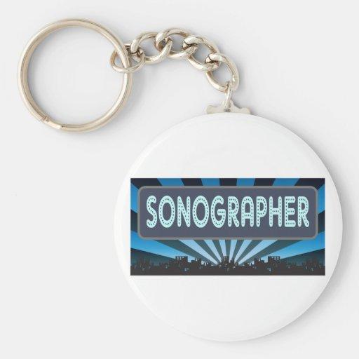 Carpa de Sonographer Llavero Redondo Tipo Pin