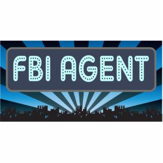 Carpa del agente del FBI Adorno Fotoescultura