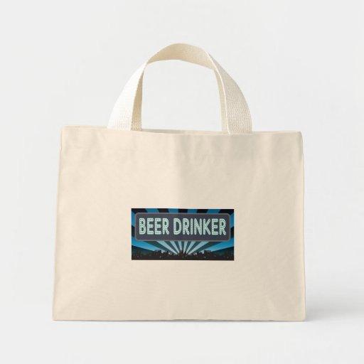 Carpa del bebedor de cerveza bolsa tela pequeña