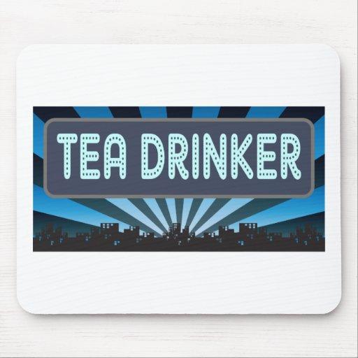 Carpa del bebedor del té alfombrilla de ratón