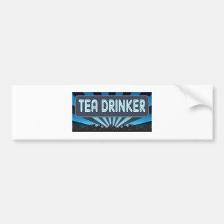 Carpa del bebedor del té pegatina para auto