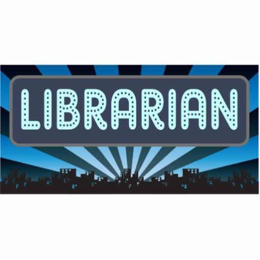 Carpa del bibliotecario adorno fotoescultura