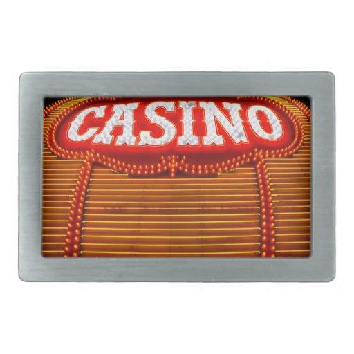 Carpa del casino en Carson City Hebilla Cinturón Rectangular