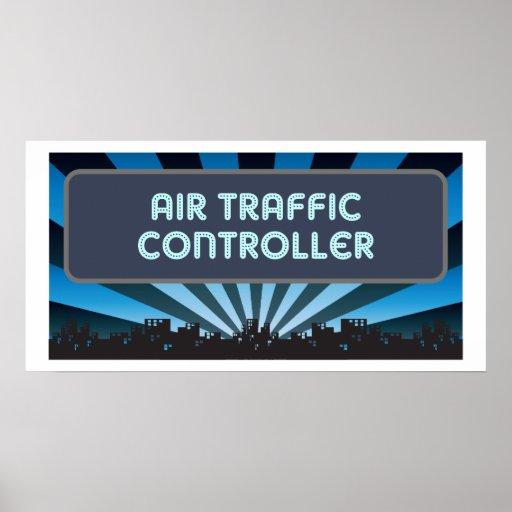 Carpa del controlador aéreo póster