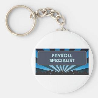 Carpa del especialista de la nómina de pago llavero redondo tipo pin