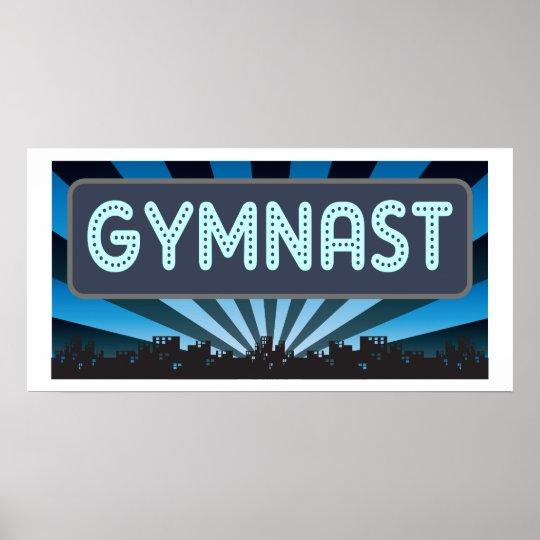 Carpa del gimnasta póster