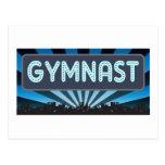 Carpa del gimnasta tarjetas postales