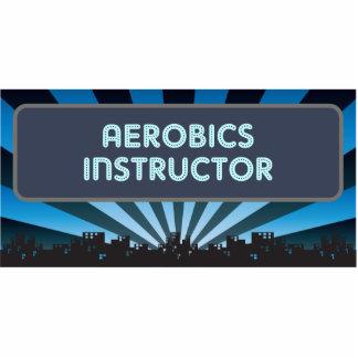 Carpa del instructor de los aeróbicos esculturas fotográficas