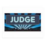 Carpa del juez tarjetas postales