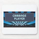 Carpa del jugador de Cribbage Alfombrilla De Ratones