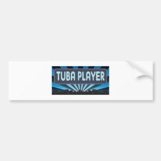 Carpa del jugador de la tuba pegatina de parachoque
