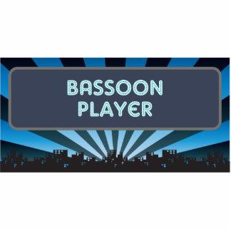 Carpa del jugador del Bassoon Adorno Fotoescultura