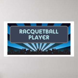 Carpa del jugador del Racquetball Poster