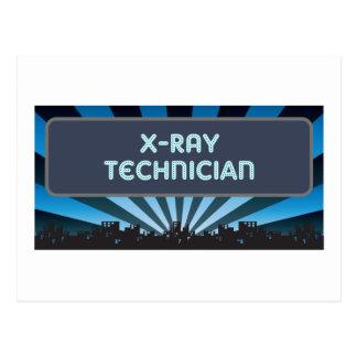 Carpa del técnico de la radiografía postales