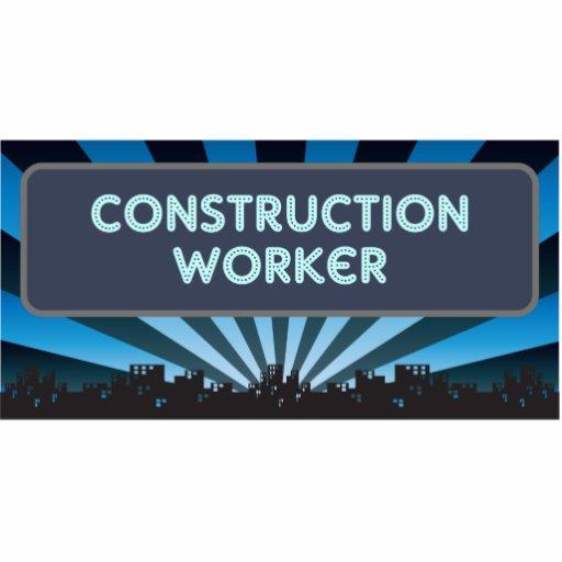 Carpa del trabajador de construcción adorno fotoescultura