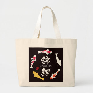 Carpa japonesa (Koi o Nishikigoi) Bolsa Tela Grande
