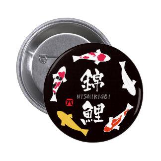 Carpa japonesa (Koi o Nishikigoi) Pin Redondo De 2 Pulgadas