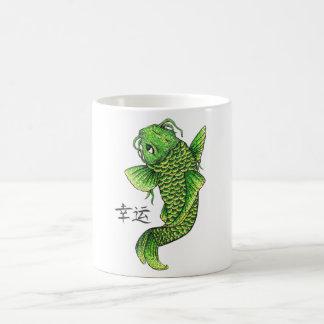 Carpa verde afortunada oriental fresca de los pesc tazas